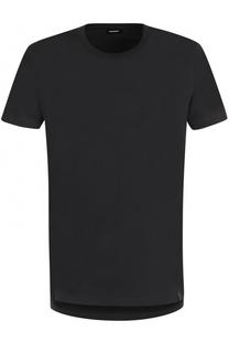 Хлопковая футболка с круглым вырезом Diesel
