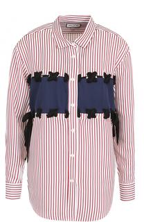 Блуза в полоску со шнуровкой Paul&Joe Paul&Joe