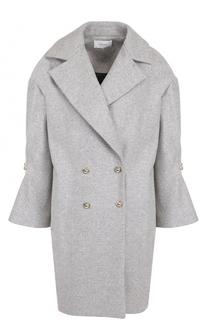 Двубортное шерстяное пальто с укороченным рукавом Carven