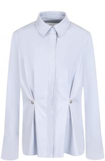 Приталенная хлопковая блуза с защипами Carven