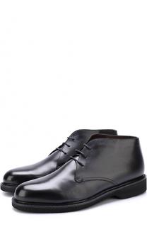 Кожаные ботинки на шнуровке с внутренней меховой отделкой Ermenegildo Zegna