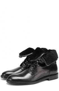 Кожаные ботинки Milano с внутренней меховой отделкой Dolce & Gabbana