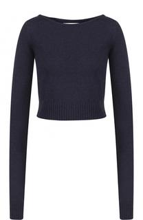 Укороченный шерстяной пуловер с круглым вырезом Faith Connexion