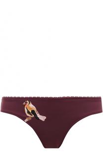Плавки-бикини с контрастной вышивкой Stella McCartney