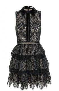 Приталенное кружевное мини-платье Alice + Olivia