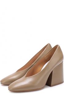 Кожаные туфли на массивном каблуке Maison Margiela