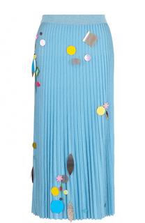 Плиссированная юбка-миди с пайетками Christopher Kane