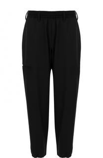 Шерстяные укороченные брюки с заниженной линией шага Yohji Yamamoto