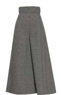 Укороченные шерстяные брюки с завышенной талией Vika Gazinskaya