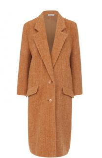 Однобортное шерстяное пальто с карманами Vika Gazinskaya