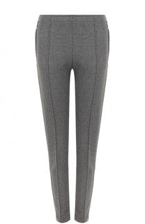 Однотонные брюки прямого кроя со стрелками Moncler