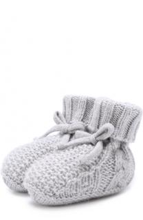 Носки из кашемира фактурной вязки Baby T