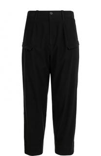 Хлопковые брюки свободного кроя с заниженной линией шага Yohji Yamamoto