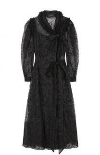 Приталенное кружевное платье-миди Simone Rocha