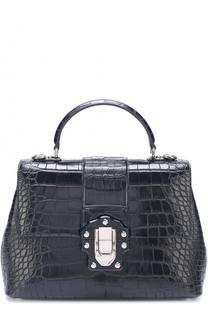 Сумка Lucia из кожи крокодила Dolce & Gabbana