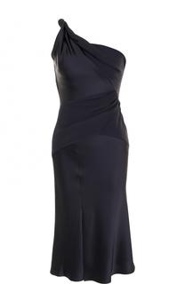 Приталенное платье-миди асимметричного кроя Versace