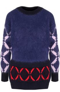 Пуловер с круглым вырезом и разрезами на рукавах Versace