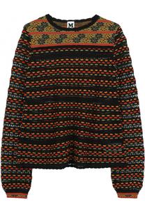 Пуловер из смеси шерсти и хлопка с круглым вырезом M Missoni