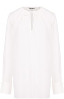 Шелковая блуза свободного кроя с круглым вырезом Diane Von Furstenberg