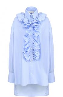 Хлопковая блуза свободного кроя с оборками Faith Connexion