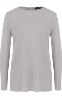 Шелковая блуза с круглым вырезом Alexander Terekhov