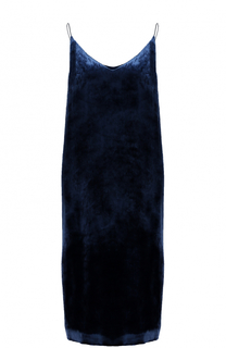 Бархатное платье-миди прямого кроя Alexander Terekhov
