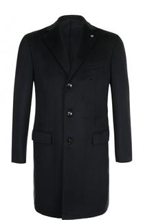 Однобортное кашемировое пальто с отложным воротником Sartoria Latorre