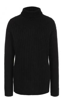 Шерстяной свитер фактурной вязки с высоким воротником 3.1 Phillip Lim