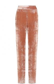 Бархатные брюки прямого кроя с эластичным поясом Alice + Olivia