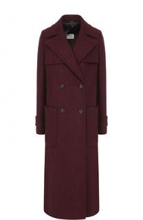 Шерстяное двубортное пальто прямого кроя Maison Margiela