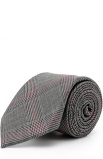 Шерстяной галстук в клетку Brioni