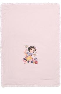 Одеяло с принтом и стразами Monnalisa