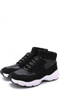 Высокие текстильные кроссовки на шнуровке O.X.S.