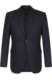 Однобортный шерстяной пиджак Z Zegna