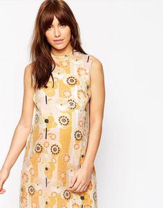 Цельнокройное платье для беременных с цветочным дизайном и пайетками ASOS Maternity - Мульти