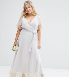 Платье макси ASOS CURVE WEDDING - Серый