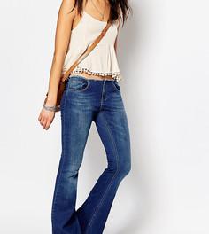 Расклешенные джинсы с необработанным поясом Northmore Denim - Синий