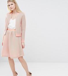 Пышная юбка миди для выпускного True Decadence Petite - Розовый