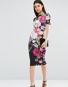 Платье-футболка с цветочным принтом ASOS TALL - Мульти