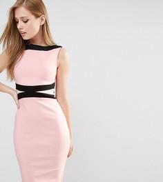 Платье-футляр со вставками колор блок Vesper - Мульти