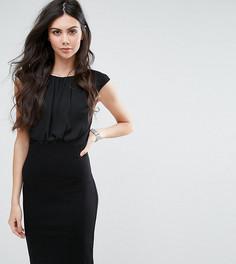 Платье-футляр с шифоновой вставкой Y.A.S Tall Faith - Черный
