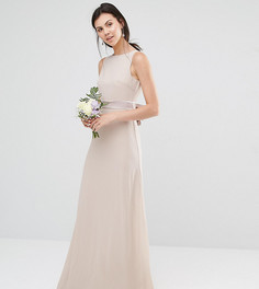 Платье макси с бантом TFNC Tall Wedding - Розовый