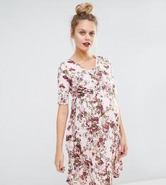 Платье с цветочным принтом и запахом для беременных и кормящих Bluebelle Maternity - Мульти