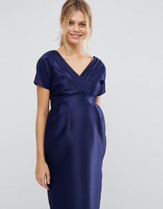 Платье для беременных с бантом сзади ASOS Maternity - Синий