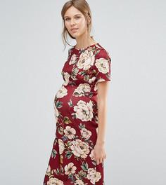 Облегающее платье с цветочным принтом ASOS Maternity - Мульти