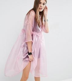 Прозрачное oversize-платье с комбинацией на бретельках Reclaimed Vintage - Розовый