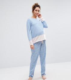 Пижама в полоску ASOS Maternity - Мульти