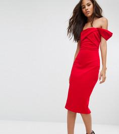Платье-футляр с открытыми плечами ASOS TALL - Красный