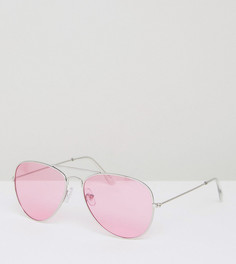 Солнцезащитные очки-авиаторы с розовыми стеклами Jeepers Peepers - Розовый