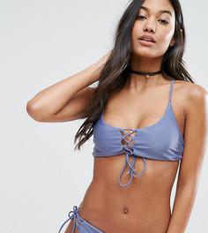 Комбинируемый бикини-топ со шнуровкой South Beach - Синий